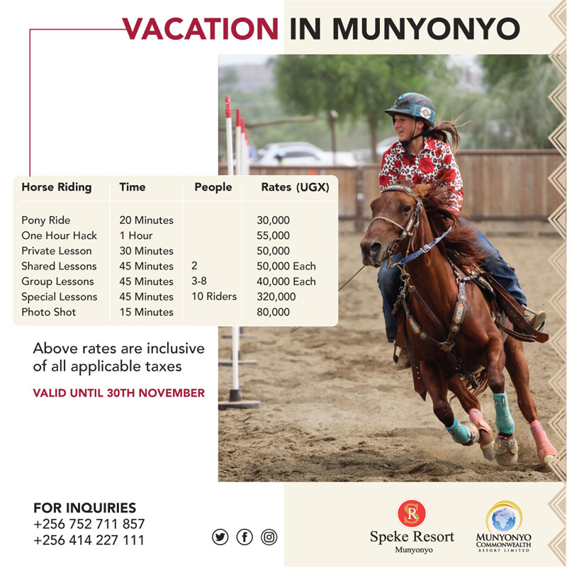 Munyonyo Commonwealth Resort -Vacation in Munyonyo -Vacation Horse riddingoffers 2020