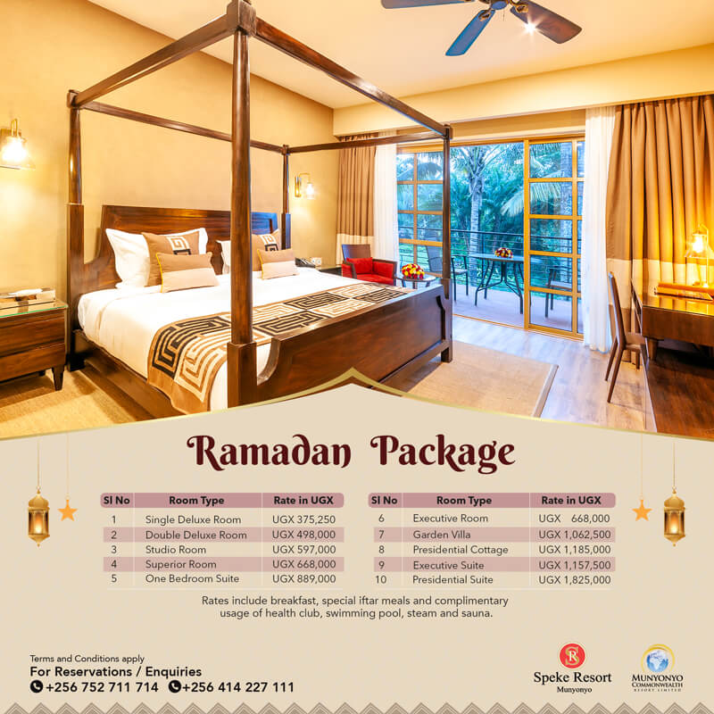 Munyonyo Commonwealth resort Ramadan accomodation special