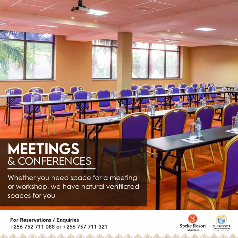 Munyonyo Commonwealth resort conference meetings event specials