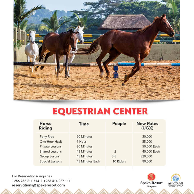 Munyonyo Commonwealth resort equestrian cener 2021 May