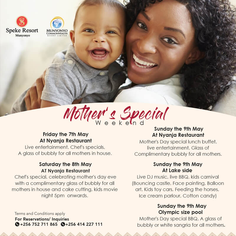 Munyonyo Commonwealth resort mothers special 3 days treat